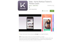Keep - Home workout trainer
