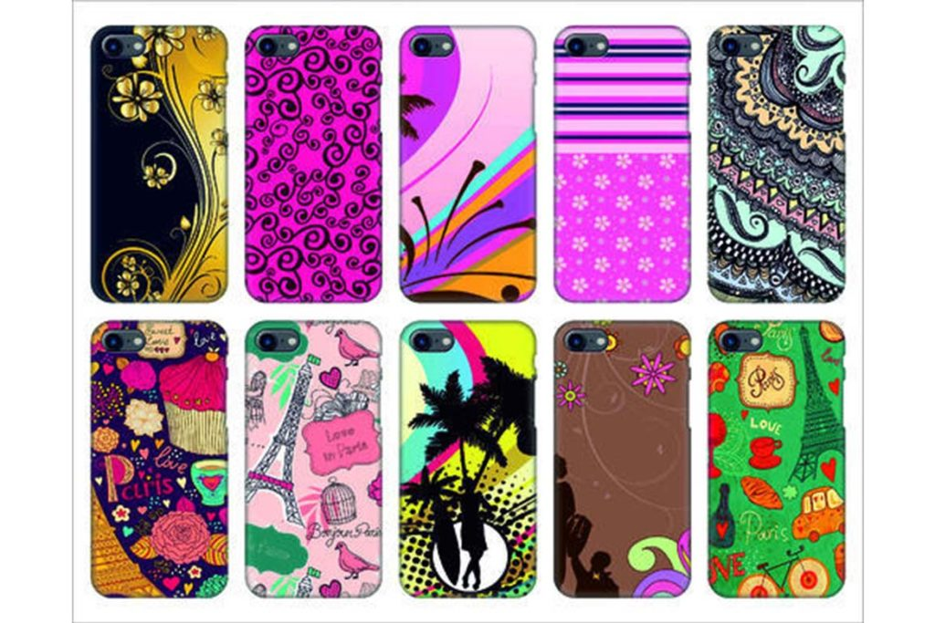mobile cover with design