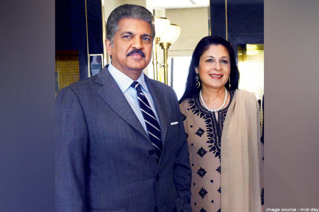 anand Mahindra and wife- TechMobi