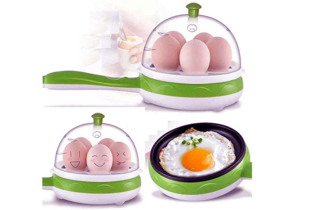 Getko with device multifunction 2 in 1 Electric Egg Boiler Steamer Omelette Frying Pan- TechMobi