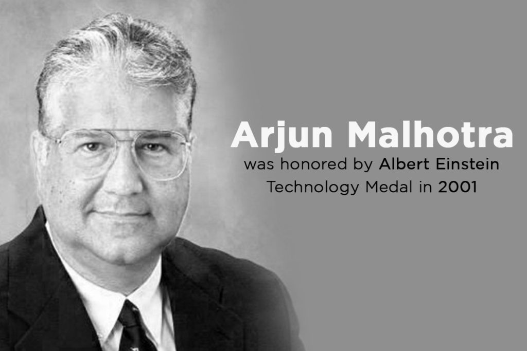 Arjun Malhotra was honored by Albert Einstein Technology Medal in 2001- TechMobi