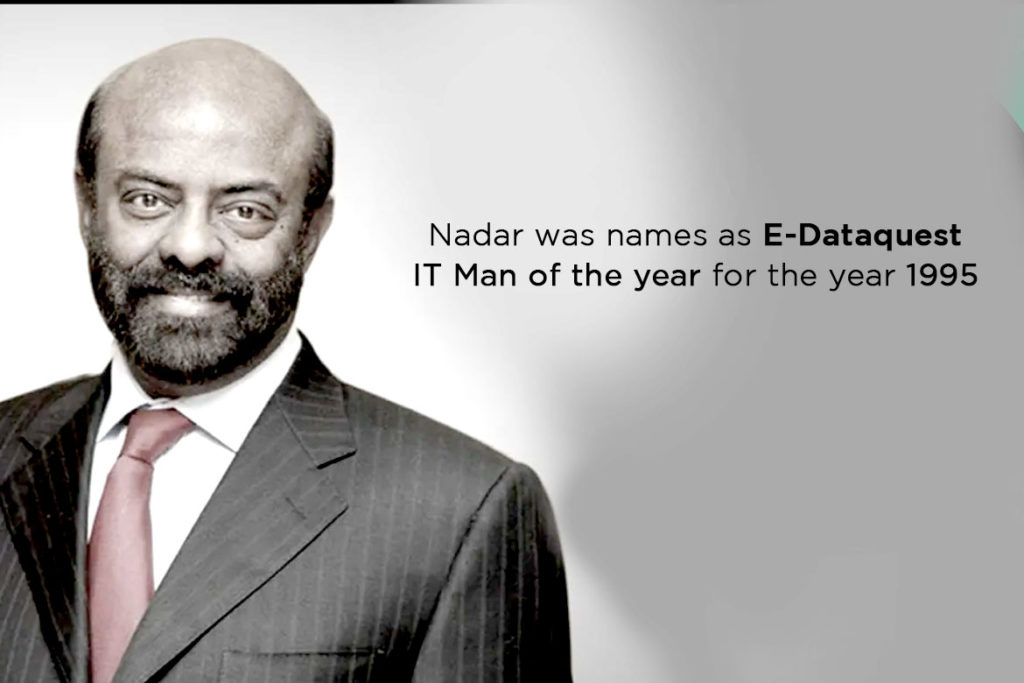 Nadar was names as e Dataquest IT Man of the year for the year 1995- TechMobi