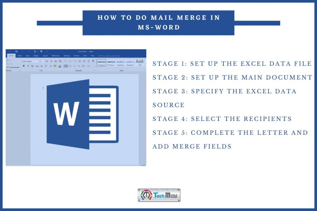 Learn To do Mail Merge in MS-Word- TechMobi