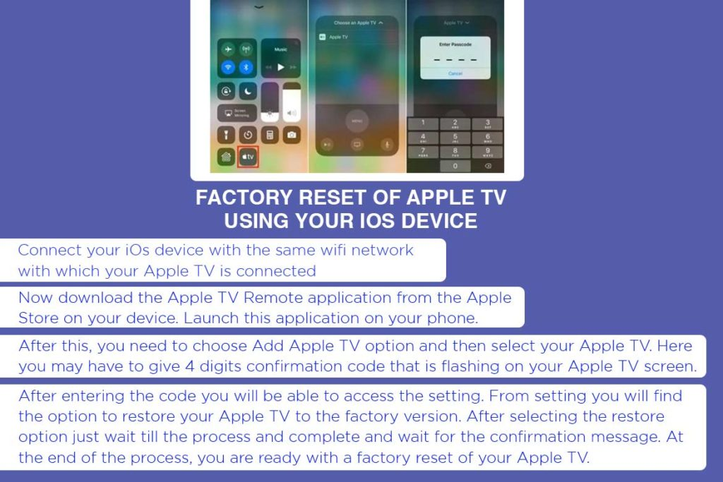 Factory reset Apple Tv- TechMobi